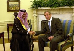 Bush meets with Saudi Arabian Foreign Minister