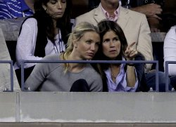 Cameron Diaz at the U.S. Open Tennis Championships in New York