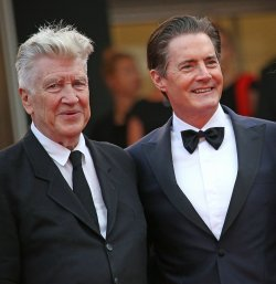 David Lynch and Kyle MacLachlan attend the Cannes Film Festival