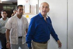 Israel's ex-Prime Minister Olmert leaves Tel Aviv District Court