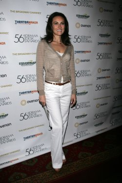 Laura Benanti arrives for the Reception for the Drama Desk Award Nominees in New York
