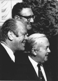 Gerald Ford, Harold Wilson and Henry Kissinger in Helsinki