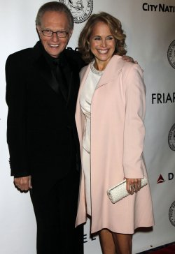 Katie Couric and Larry King arrive for the Friars Club Honors Larry King at a Testimonial Dinner Gala in New York