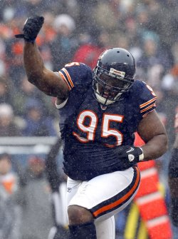 Bears Adams Celebrates Forcing Fumble Against Jets