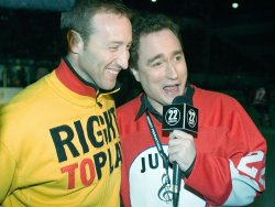 PETER MACKAY AT THE JUNO CUP HOCKEY MATCH