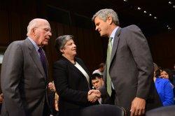 Secretary Janet Napolitano testifies on Immigration Reform in Washington