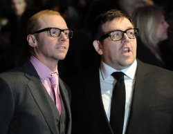 "Nick Frost and Simon Pegg attend ""Paul"" premiere"