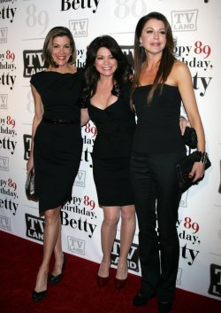 Wendy Malick, Valerie Bertinelli and Jane Leeves arrive for Betty White's 89th Birthday Party in New York