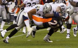 Raiders Mitchell and Seymour Dump Broncos Moreno in Denver
