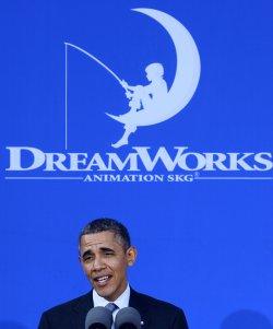 President Obama tours and speaks at DreamWorks Animation studios in Glendale, California