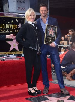 Hugh Jackman receives a star on the Hollywood Walk of Fame in Los Angeles