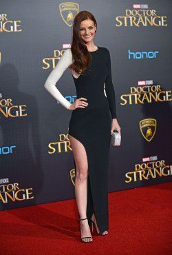 Lydia Hearst attends 'Doctor Strange' world premiere
