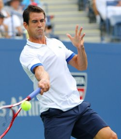 Guillermo Garcia-Lopez vs Juan Martin Del Potro at the U.S. Open in New York