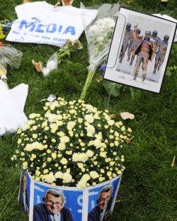 Fans Tribute to Joe Paterno at Beaver Stadium in Penn State University