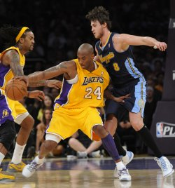 Los Angeles Lakers vs Denver Nuggets Game 5 NBA Western Conference Playoffs in Los Angeles