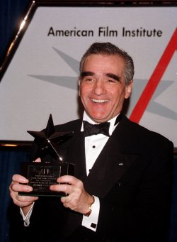 Director Martin Scorsese beams after being honored February 20 by the American Film Institutute(AFI)