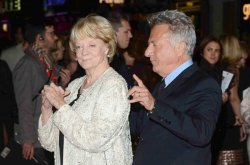 "Maggie Smith and Dustin Hoffman attend the Gala Screening of ""Quartet"" n London."