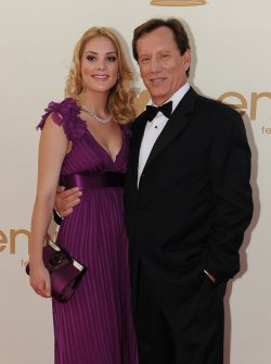 James Woods and Ashley Madison arrive at the Primetime Emmy Awards in Los Angeles