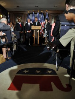 House GOP leaders discuss Obama jobs bill in Washington