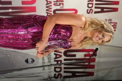 Female Vocalist of the Year Miranda Lambert at the 2011 CMA Awards in Nashville