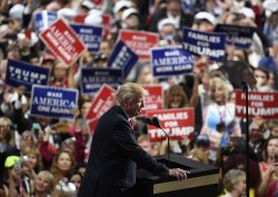 Trump speaks at the GOP convention in Cleveland