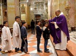 Palestinian Christians Observe Ash Wednesday, Old City Of Jerusalem