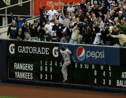 New York Yankees Texas Rangers ALCS Game 5 held in New York