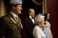 Wax Figures of Prince Harry and Queen Elizabeth unveiled at Madame Tussauds