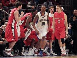 Rutgers Scarlet Knights Gilvydas Biruta at the NCAA Big East Men's Basketball Championships in New York