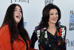 Shohreh Aghdashloo and Tara Touzie attend Film Independent Spirit Awards in Santa Monica, California