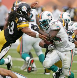 Miami Dolphins vs Pittsburgh Steelers in Miami