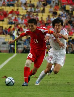 CHINA GET THE EAST ASIAN FOOTBALL CHAMPION