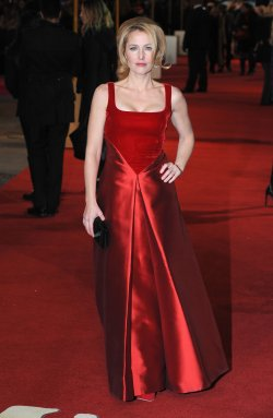 "Gillian Anderson attends The World premiere of ""Les Miserables"" in London."