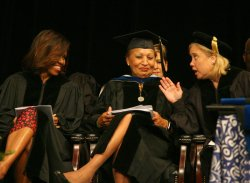 Michelle Obama delivers the commencement address at Dillard University in New Orleans