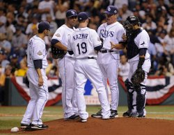 Game one of the World Series between the Tampa Bay Rays and Philadelphia Phillies in Tampa Bay