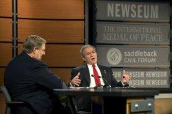 Bush participates in the Saddleback Civil Forum on Global Health in Washington