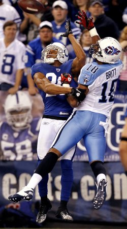 Colts Tryon Breaks Up Pass for Titans Britt
