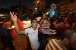 "Palestinians Celebrate After An ""Unlimited"" Ceasefire in the Gaza"