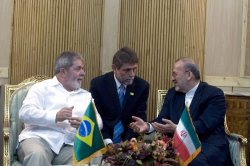 Brazilian President Luis Inacio Lula da Silva arrives in Iran-Tehran