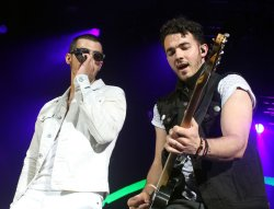 The Jonas Brothers perform in concert in West Palm Beach, Florida
