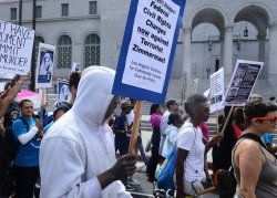 Hundreds hold Justice for Trayvon rally in Los Angeles