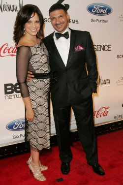 Soledad O'Brien and Steve Perry attend the Steve and Marjorie Harvey Foundation Gala New York