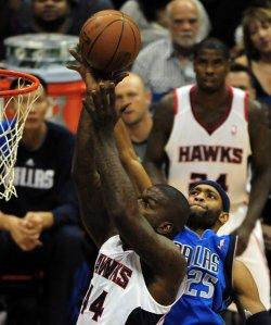 The Atlanta Hawks play the Dallas Mavericks in Atlanta