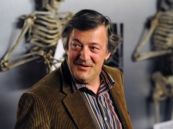 "Stephen Fry attends the ""Bones"" 100th episode celebration in West Holywood"
