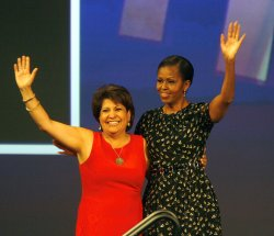 First Lady Michelle Obama Gives Keynote Address At National Council of La Raza Conference in New Orleans.
