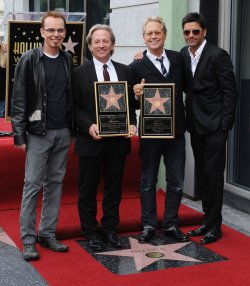 America receives a star on the Hollywood Walk of Fame in Los Angeles