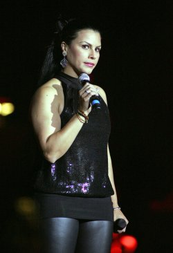 Olga Tanon performs in concert in Hollywood, Florida
