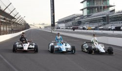 The Front Row for the 98th running of the Indianapolis 500 at the Indianapolis Motor Speedway