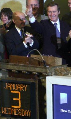 SECRETARY OF DEFENSE TOURS THE NEW YORK STOCK EXCHANGE