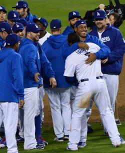 Los Angeles Dodgers vs. Atlanta Braves in Game 4 of the NLDS in Los Angeles